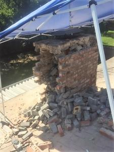 Chimney struck by lightning - Before
