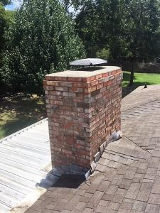 chimney struck by lightning after repair